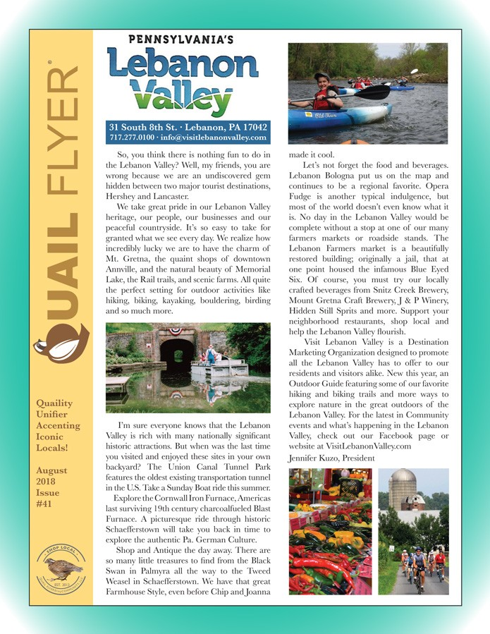 The Quail Flyer, Issue 41 | Visit Lebanon Valley